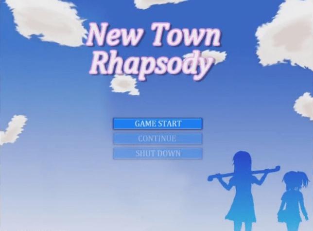 フリーゲーム『New Town Rhapsody』タイトル画面