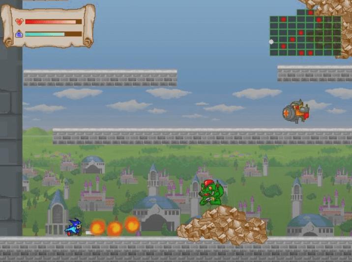 フリーゲーム『ラスボスの迷宮』火の玉で攻撃