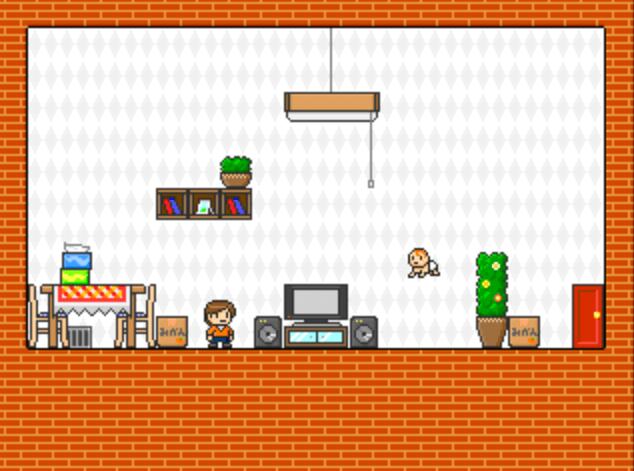 フリーゲーム『おるすばんダイサクセン!』ジャンプ
