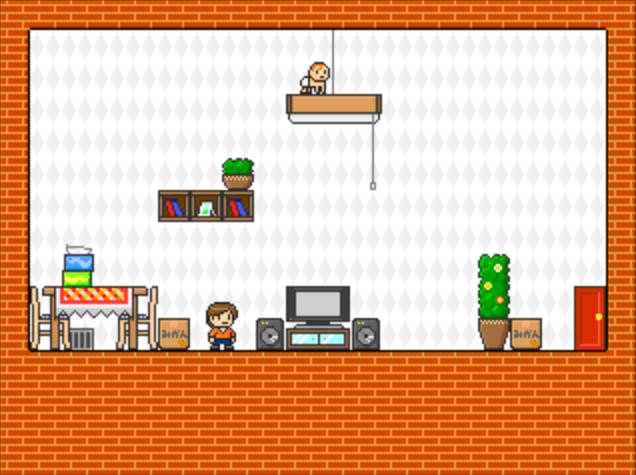 フリーゲーム『おるすばんダイサクセン!』天井